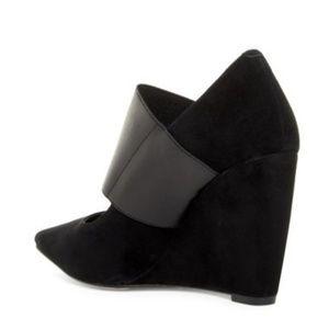 927917ce2596 Nine West Shoes - NINE WEST Vondra Wedge Pump Leather Suede Pointed